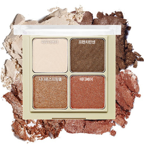 韩国Etude House 爱丽小屋 Blend For 4 Eyes 四色眼影 #4 Cozy Beige